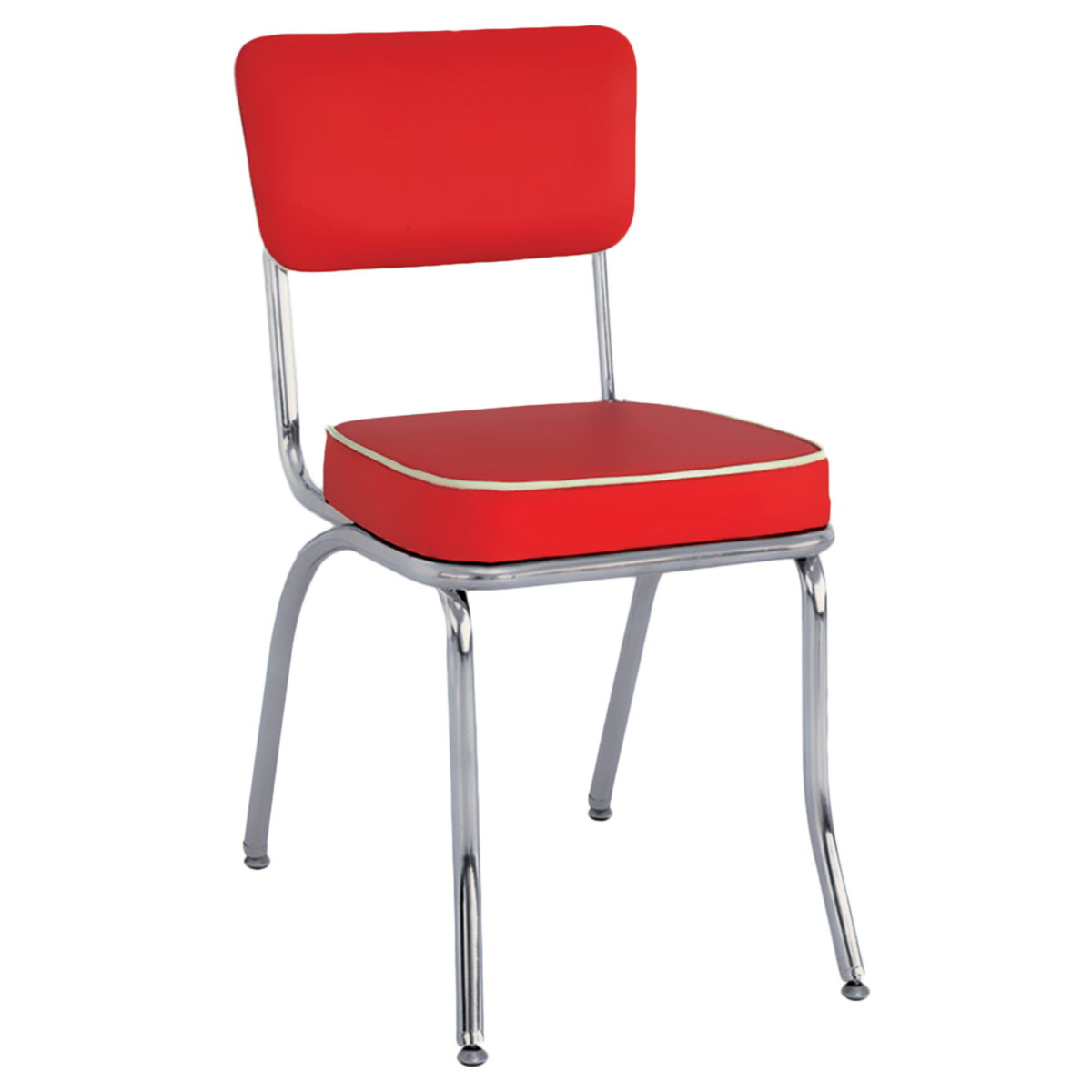 Superieur Metal Retro Upholstered Chrome Chairs