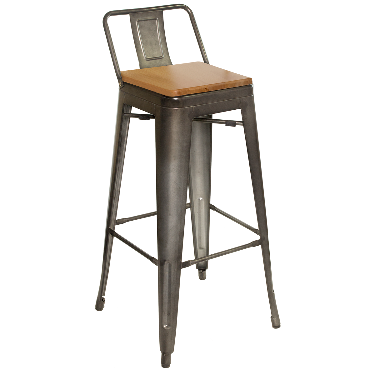 Barstools Metal Back Galvanized Steel Barstool