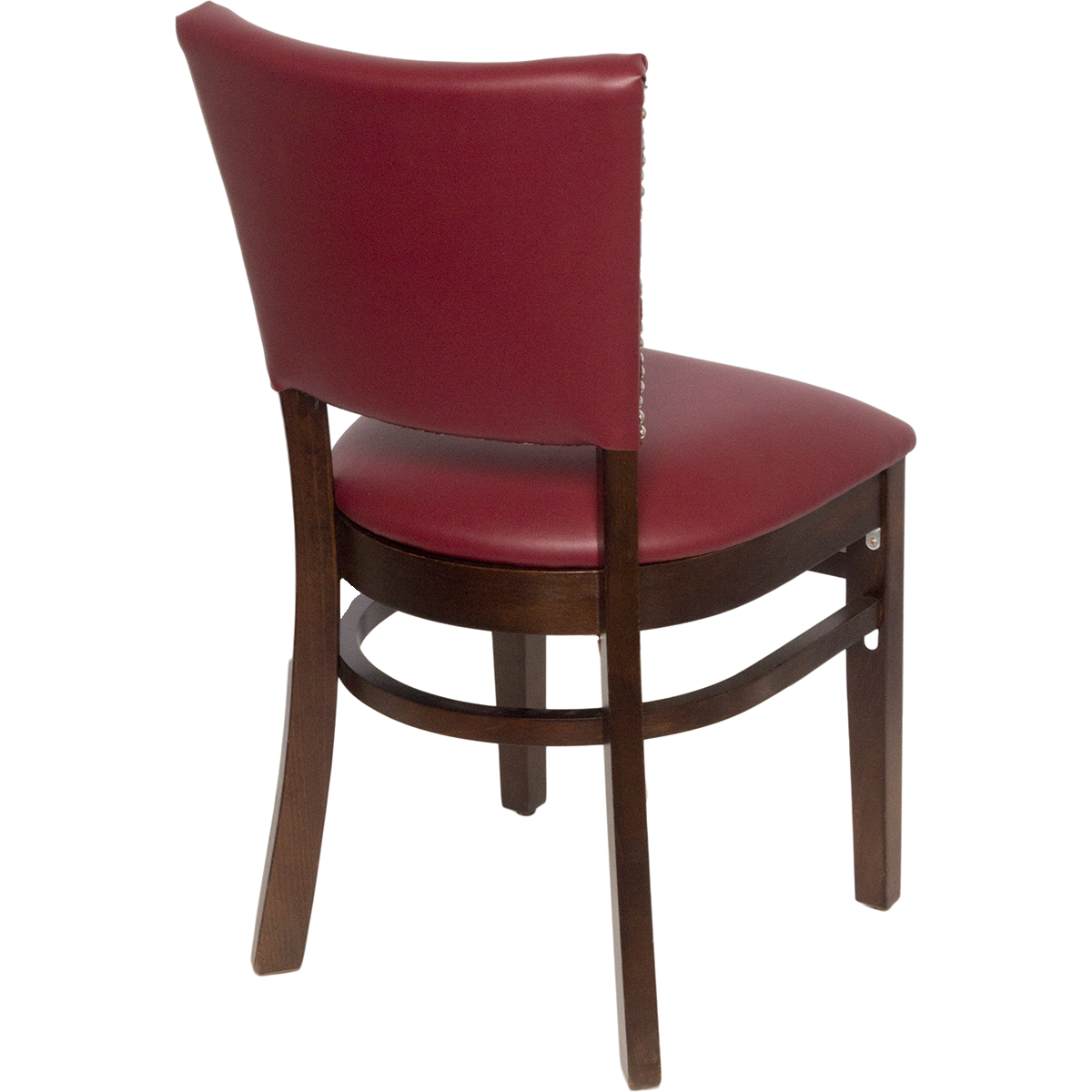 Wood Upholstered Flared Pullover Back Chair