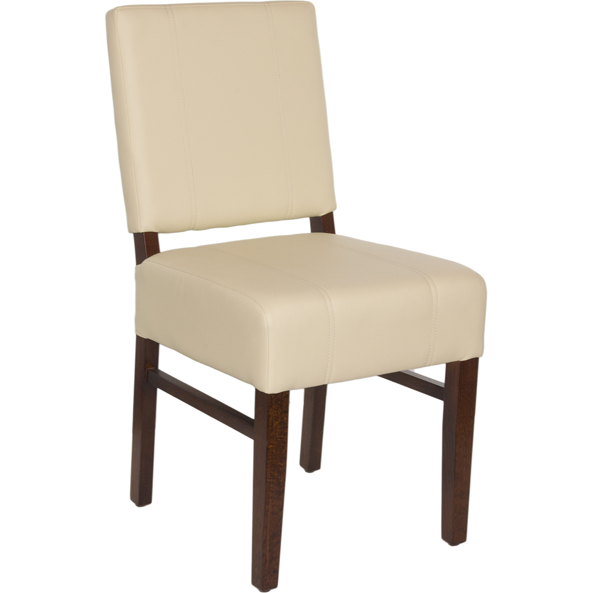 Chairs Wood Upholstered Square Pullover Back Chair