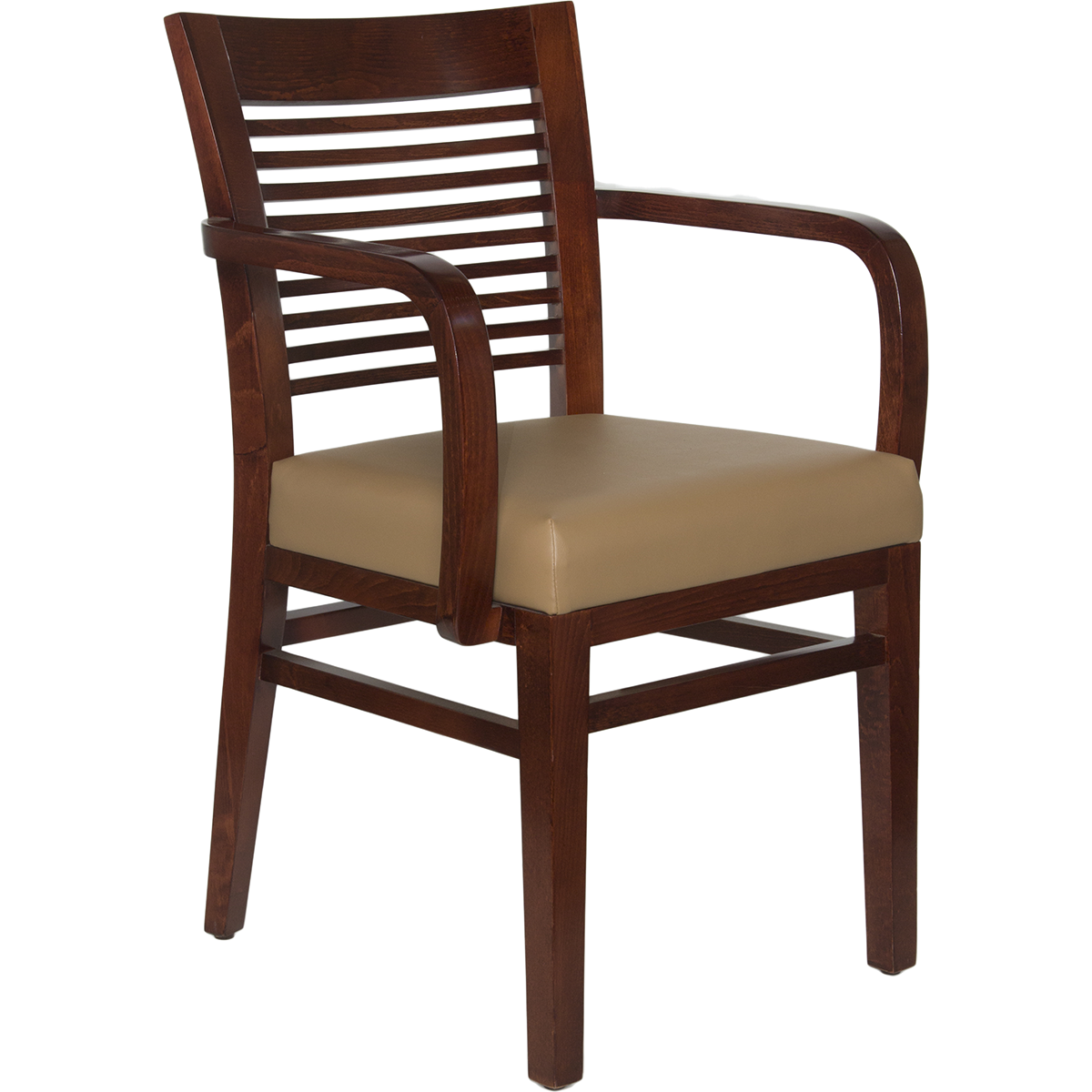 Restaurant Wood Decorative Ladder Back Arm Chair