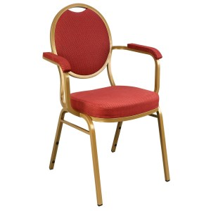 Steel Oval Banquet Chair With Arms