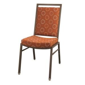 Steel Rectangle Contour Seat Banquet Chair