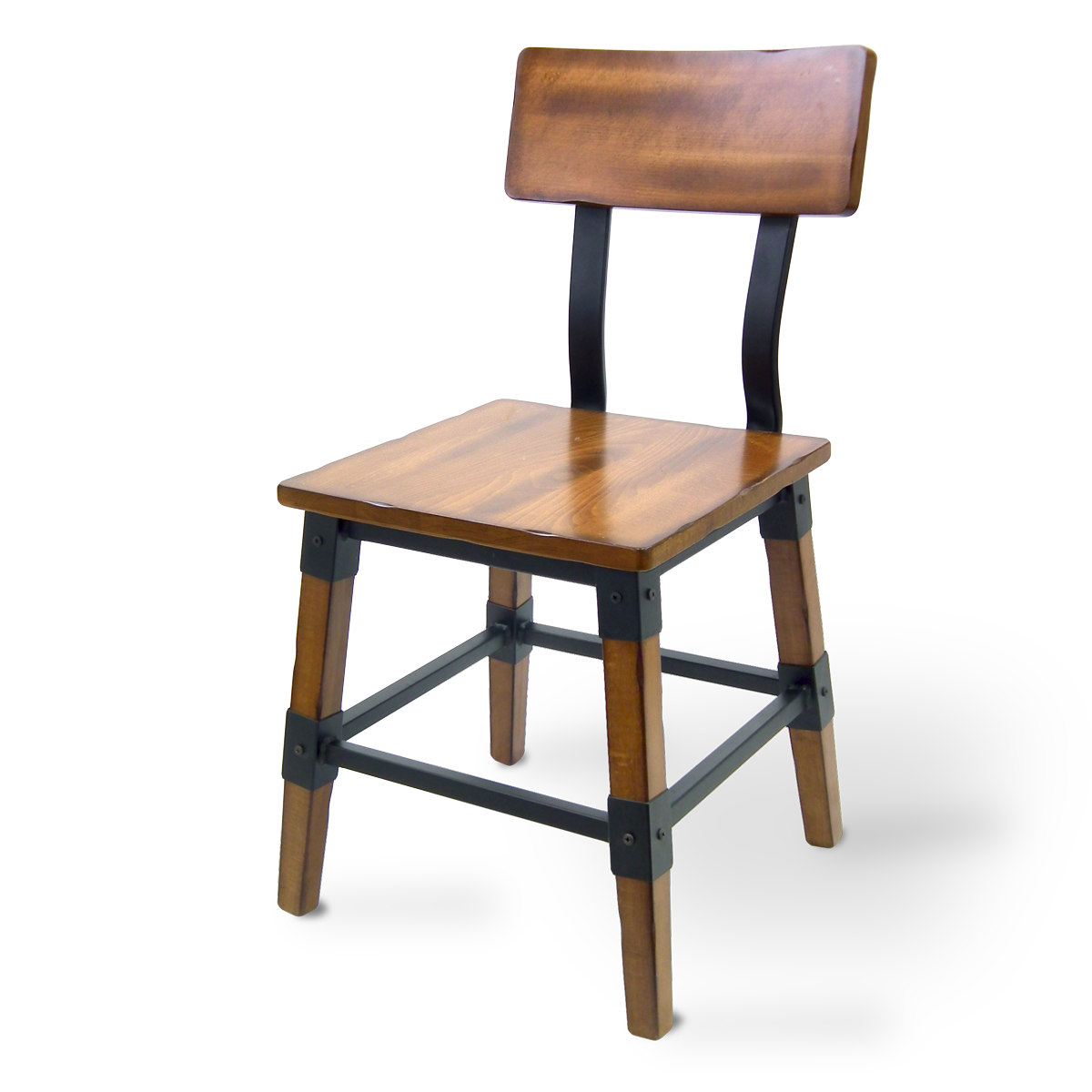 Rustic Wood and Steel Chair