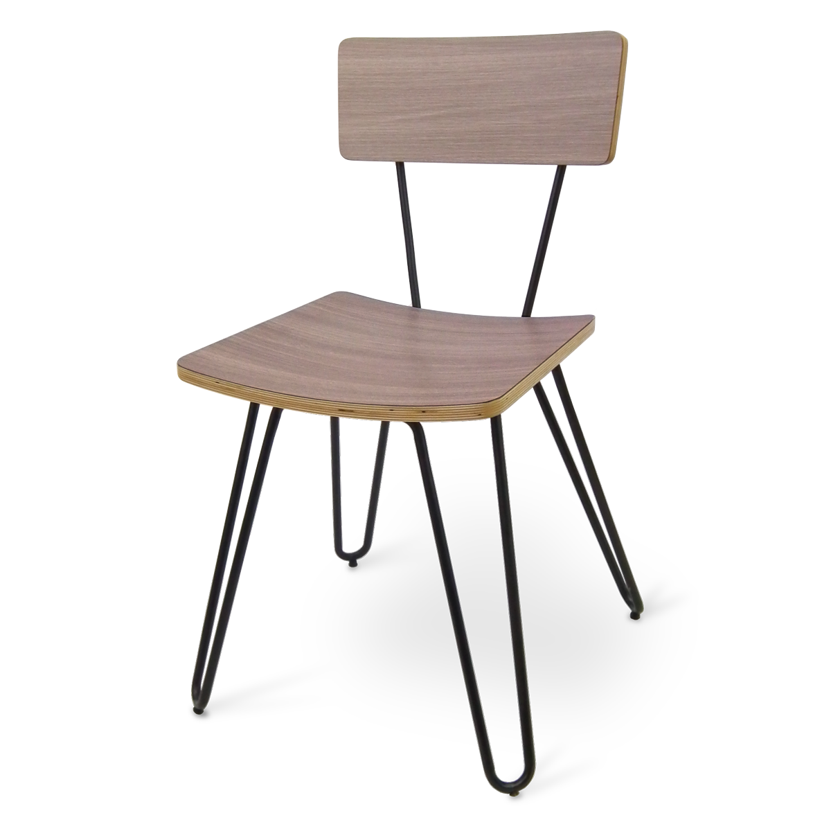 Molded Laminate on Hairpin Legs, Chair