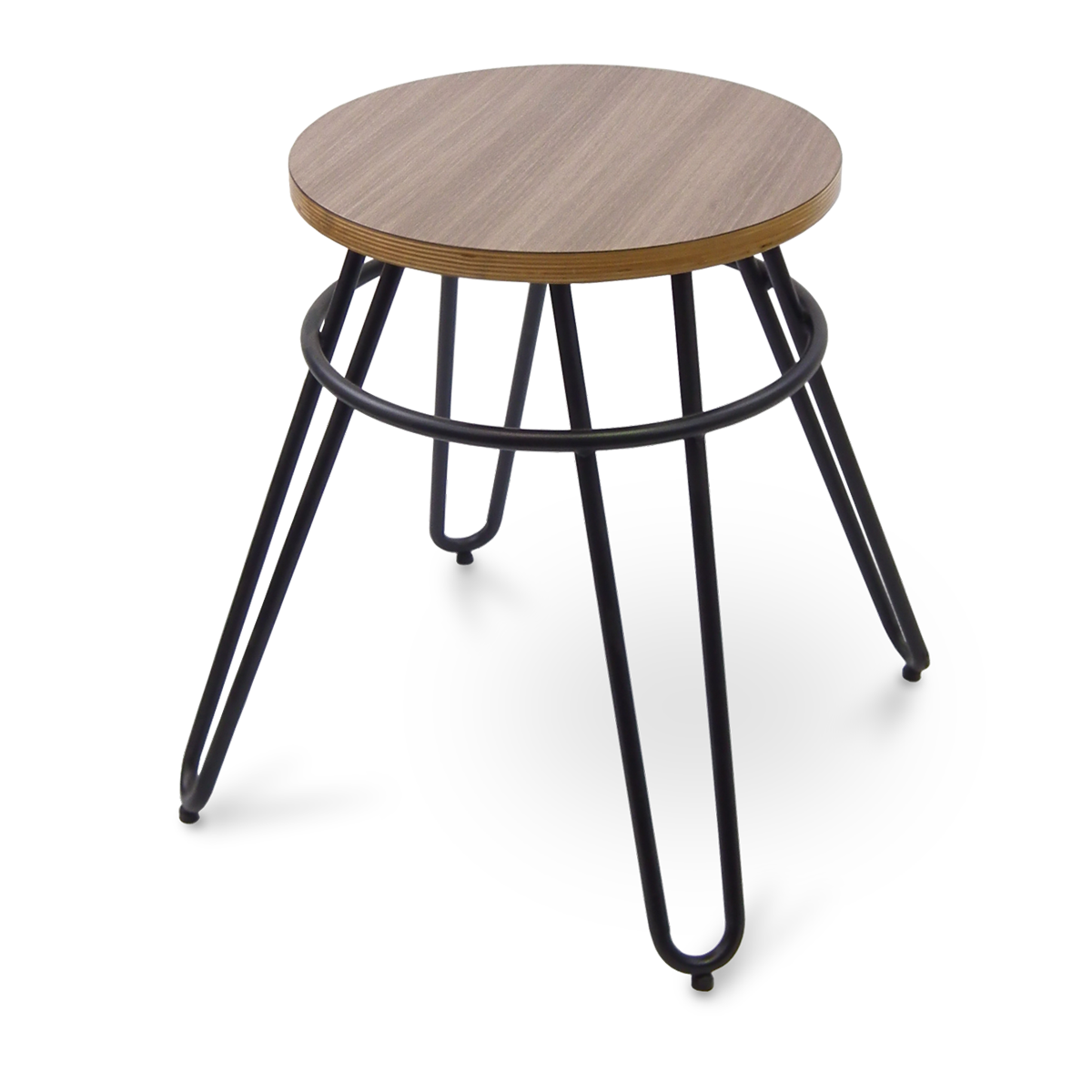 Molded Laminate on Hairpin Legs, Backless Chair