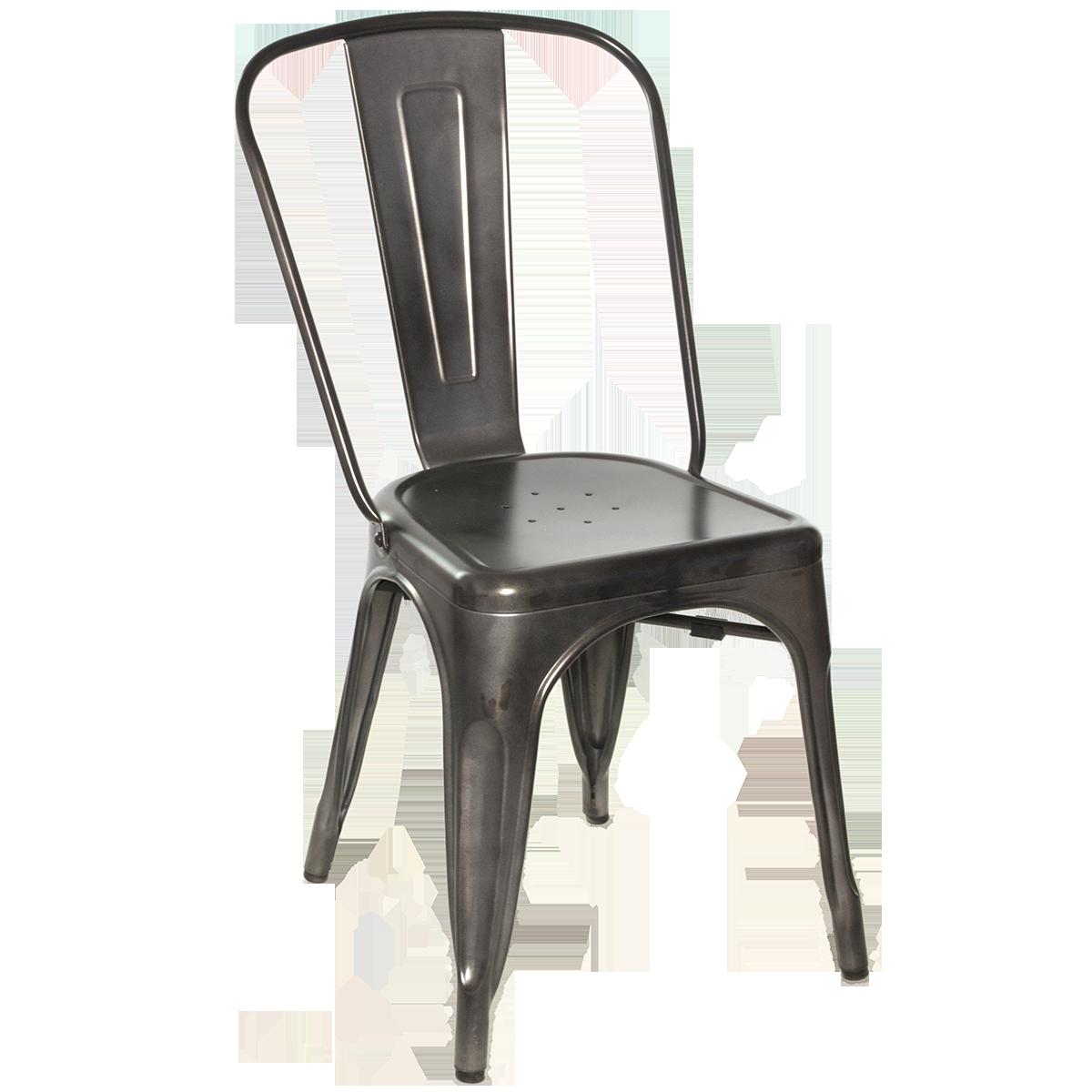 Outdoor Kitchen Jackson Ms: Chairs: Galvanized Gunmetal Steel, Chair