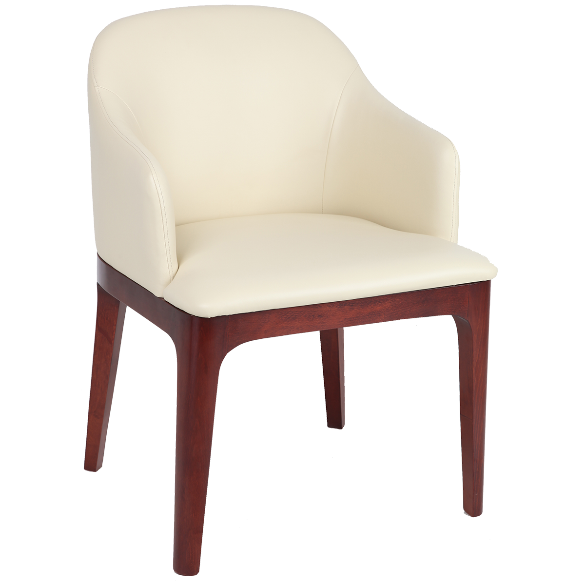 Wood Framed, Wrap-around Back Lounge Chair