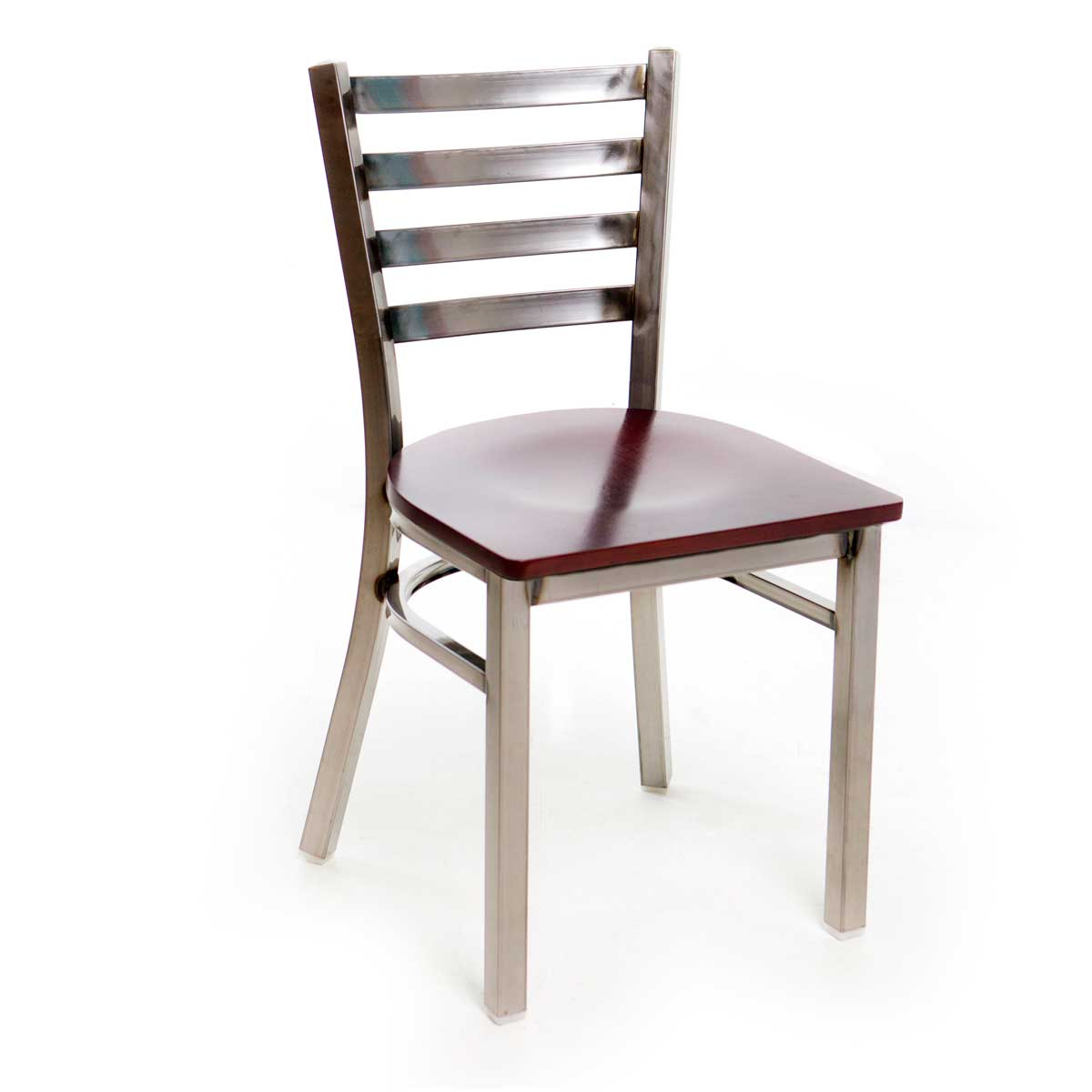 Metal Ladder Back Chair - Clear Coat