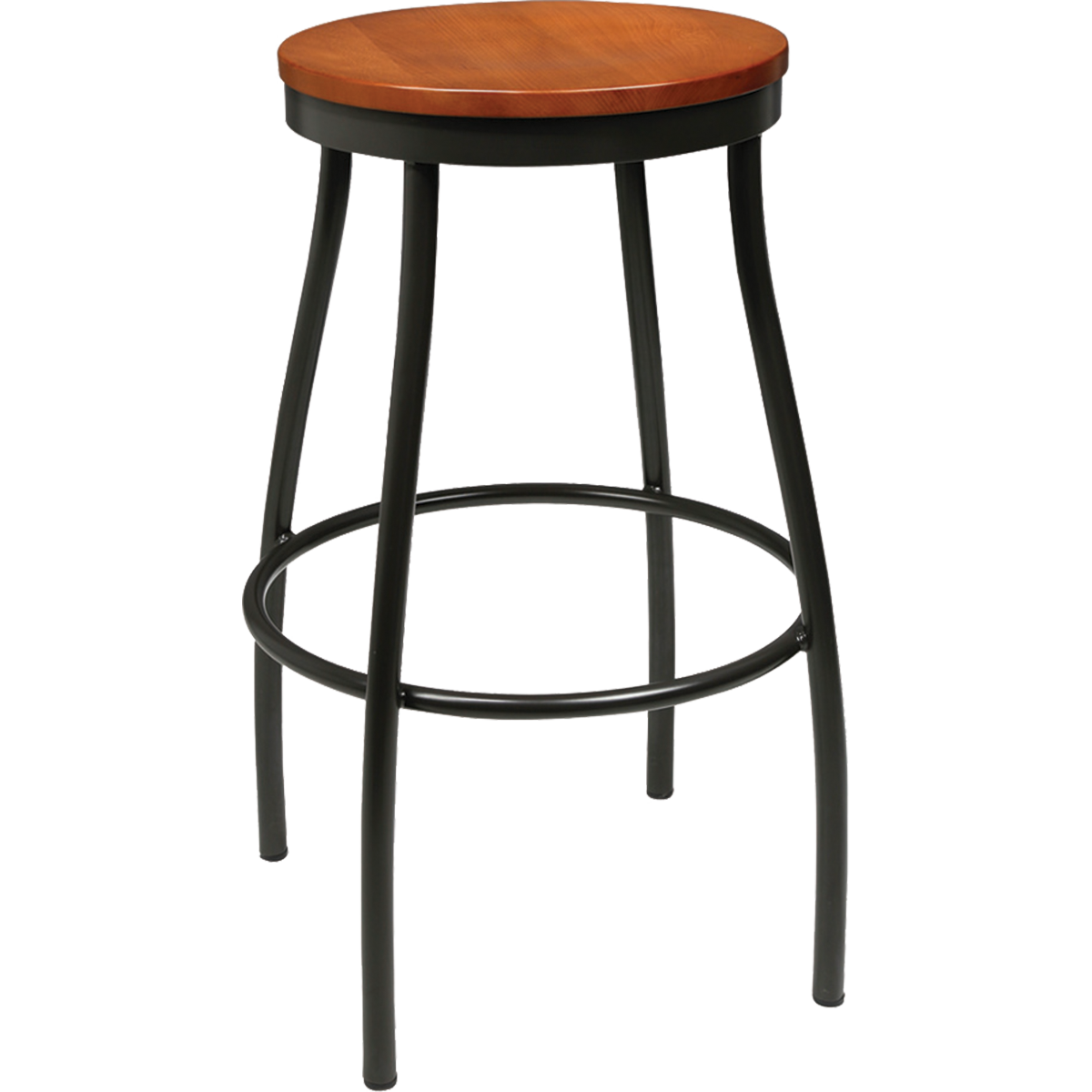 Barstools Metal Rustic Wood Backless Stool