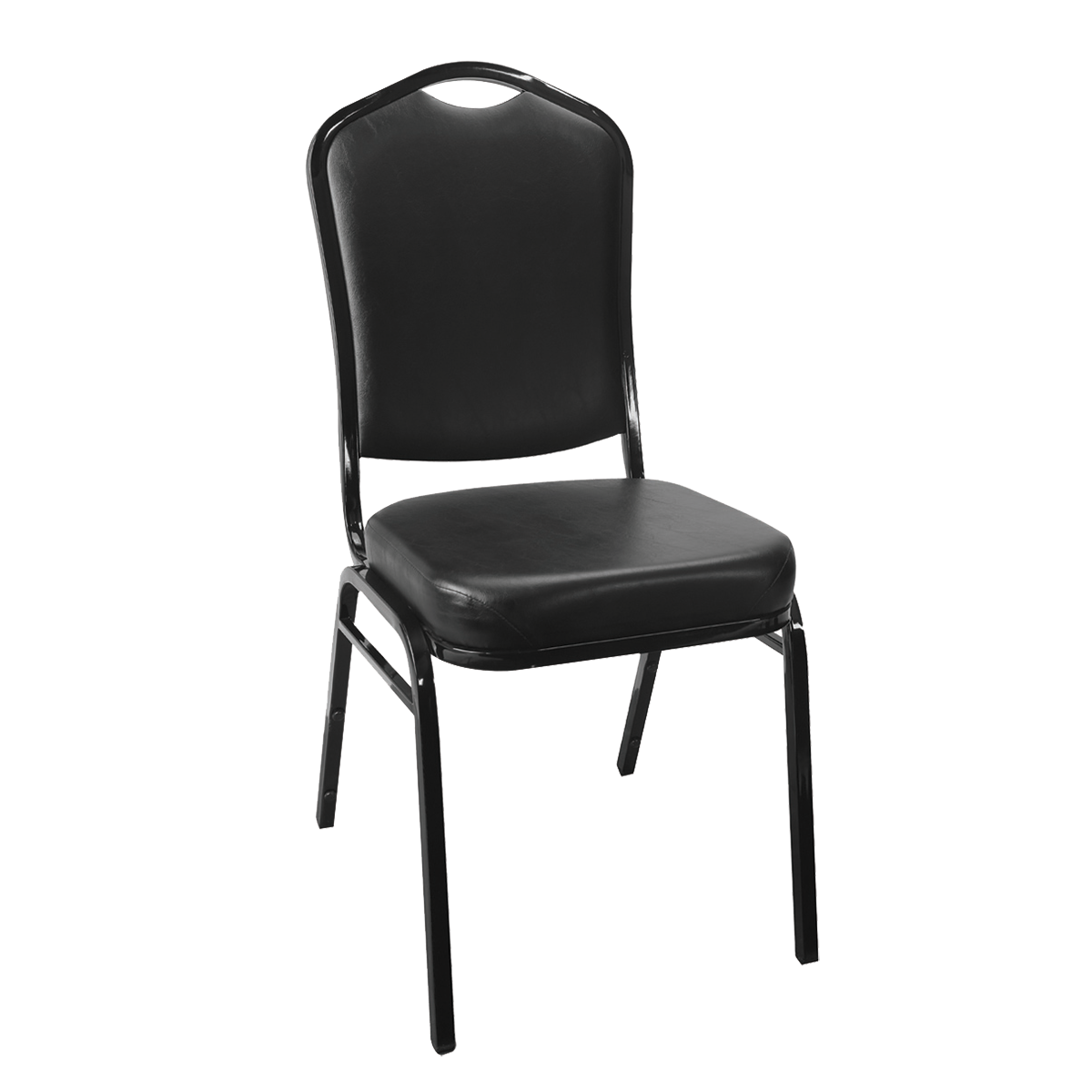 Metal Stacking Cathedral Back Banquet Chair