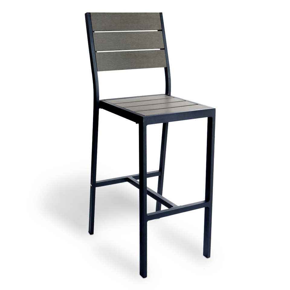 Terrific Outdoor Perma Wood Aluminum Outdoor Barstool Andrewgaddart Wooden Chair Designs For Living Room Andrewgaddartcom