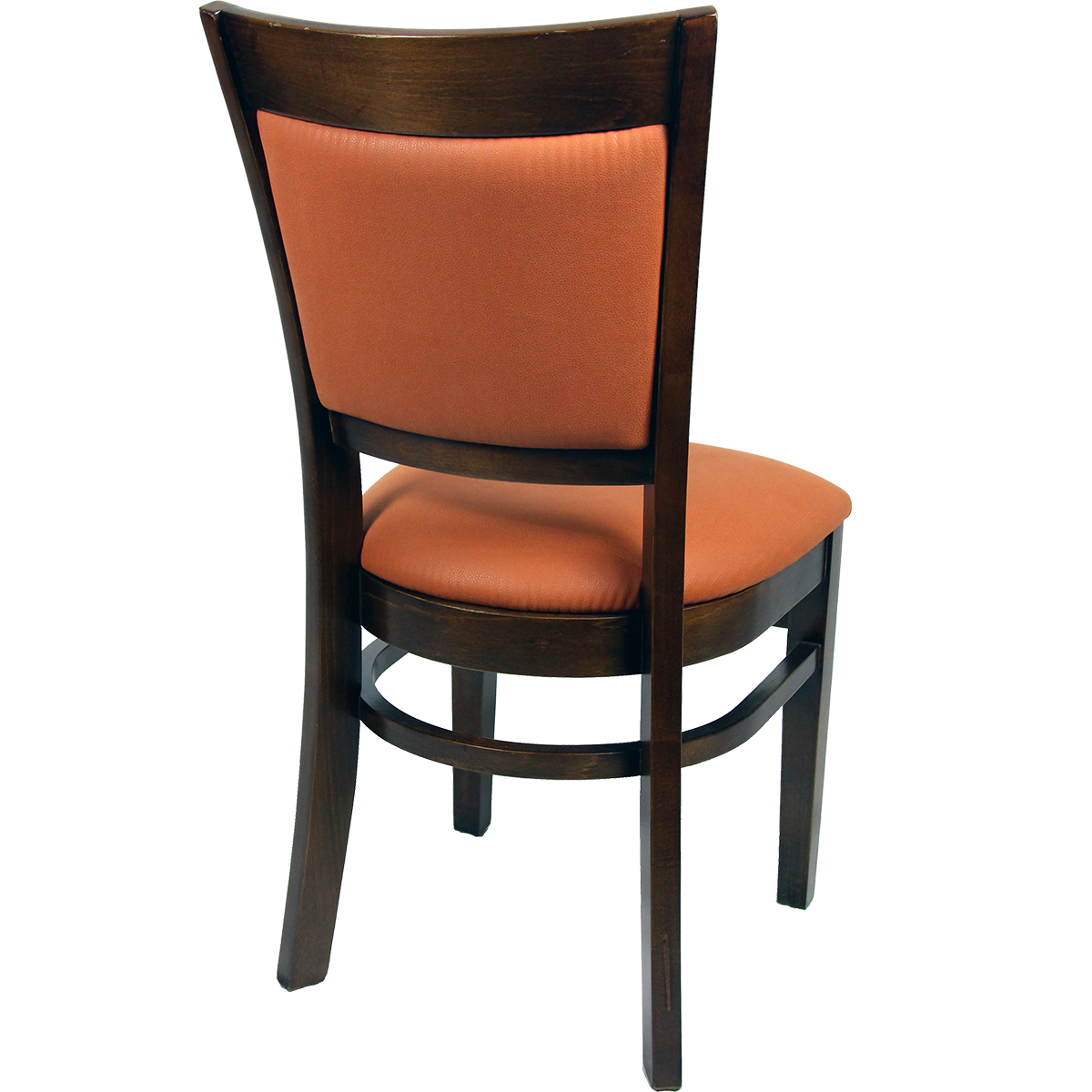Wood Upholstered Flared Inset Back Chair