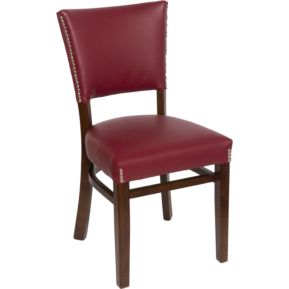 Chairs wood upholstered flared pullover back chair