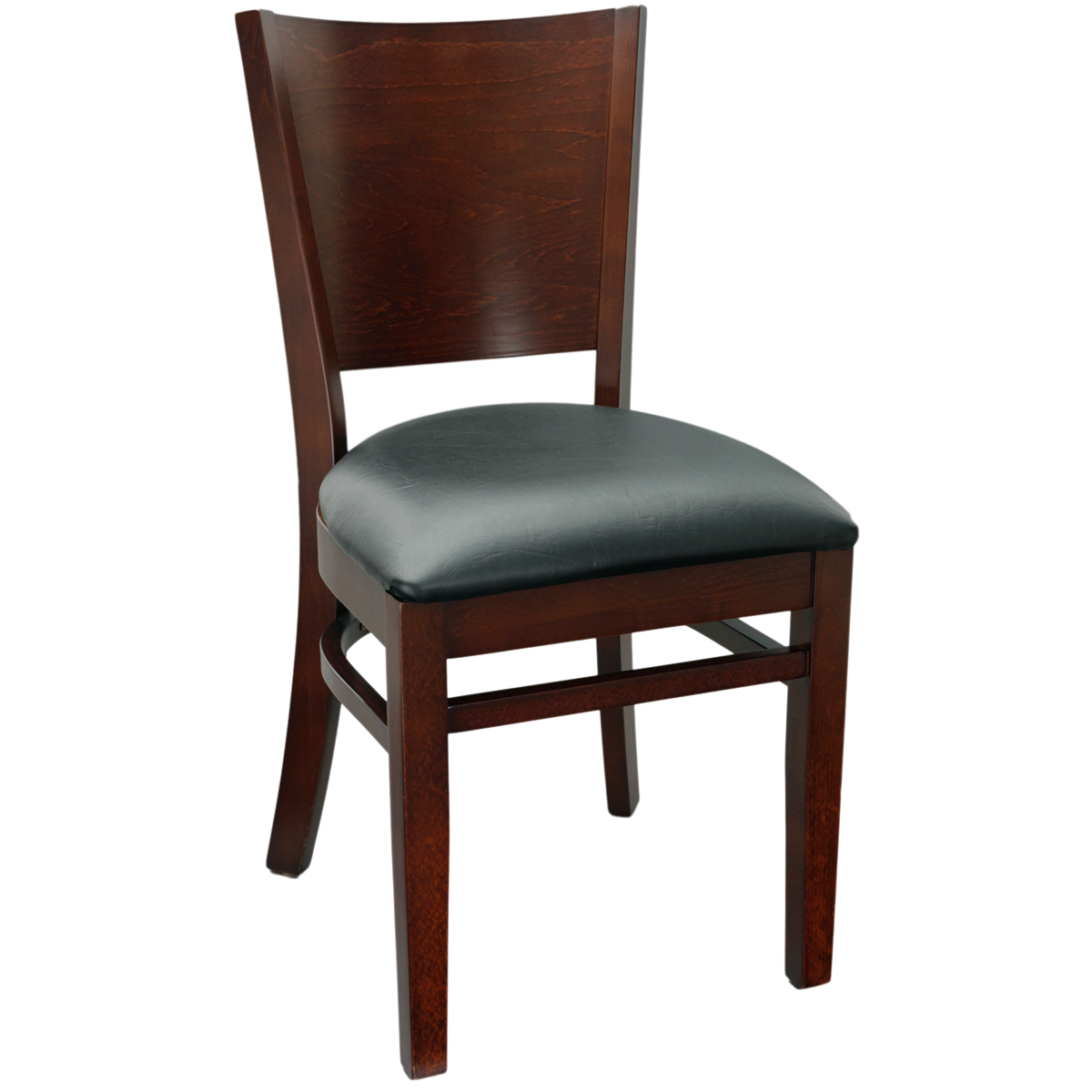Wood Flared Back Chair