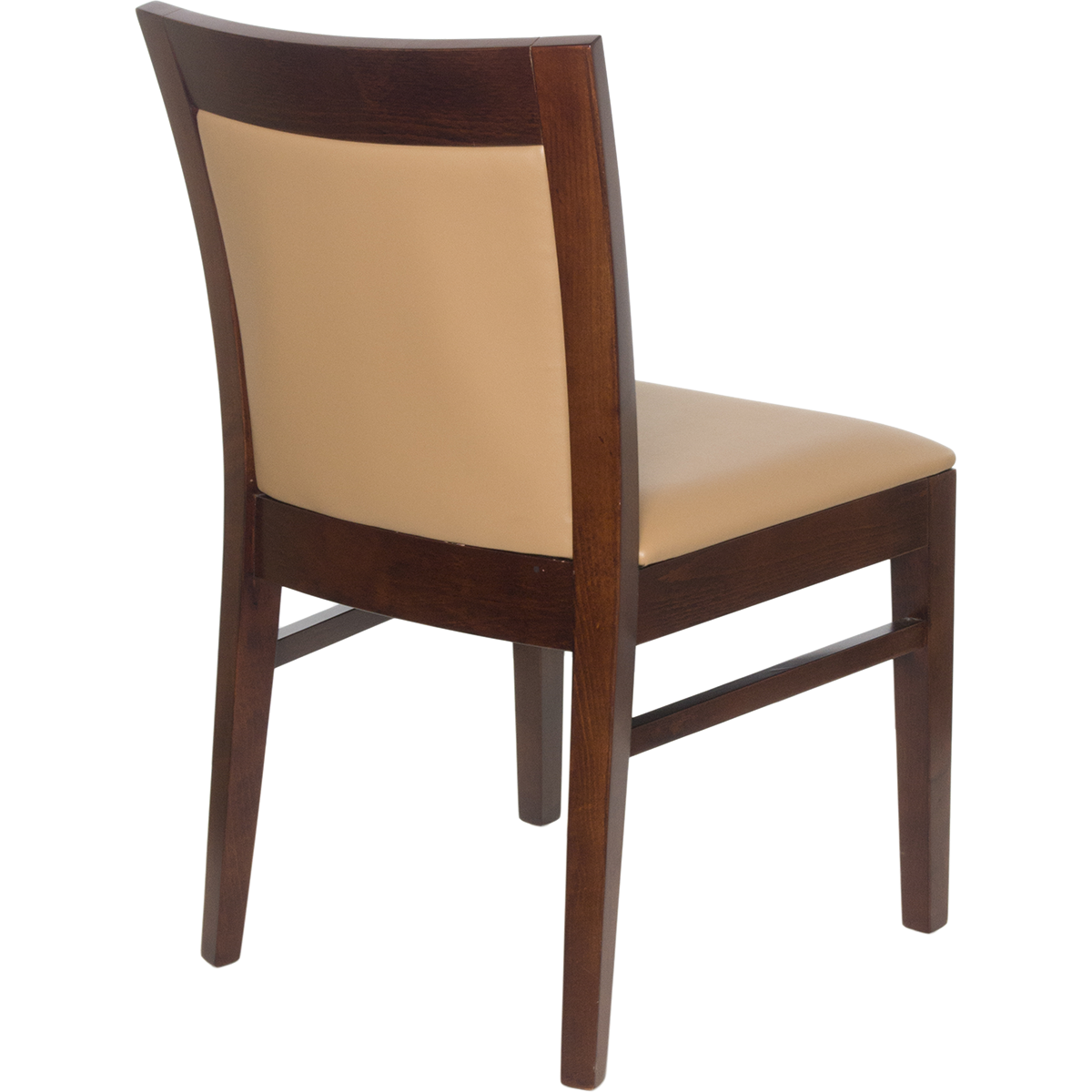 Wood Upholstered Square Inset Back Chair