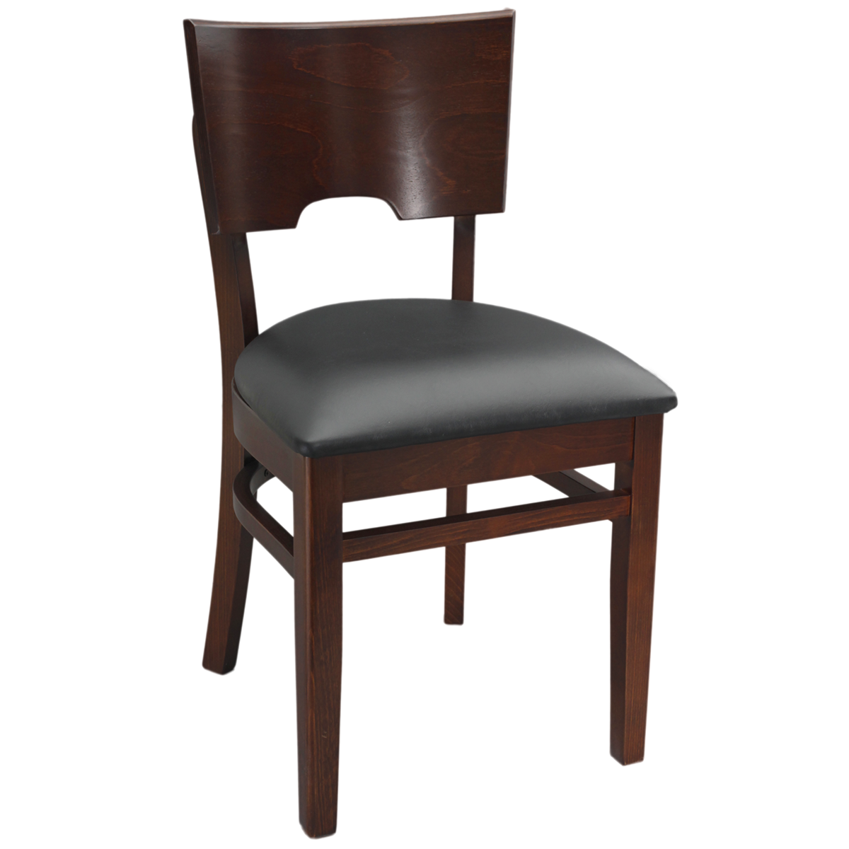 Wood Notched Back Chair