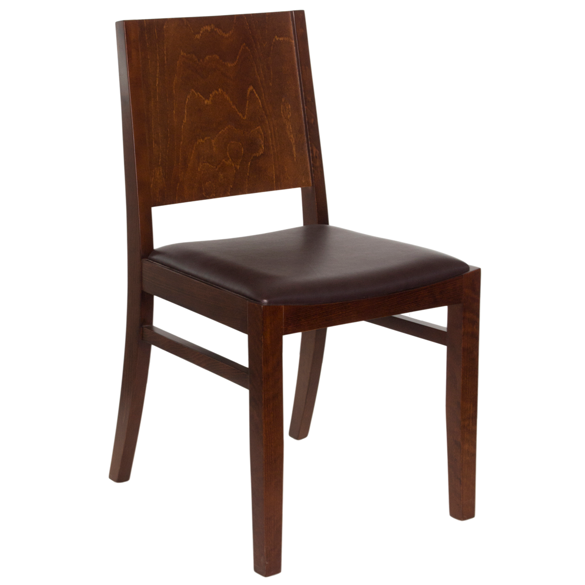 Wood Tapered Back Chair