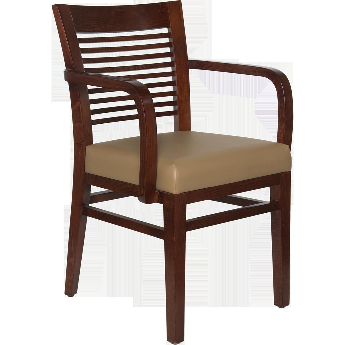 Wood Decorative Ladder Back Arm Chair