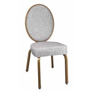 Elegant Aluminum Oval Banquet Chair