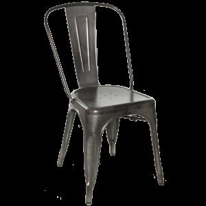 Galvanized Gunmetal Steel, Chair