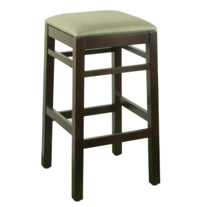 Square Wood Backless Barstools