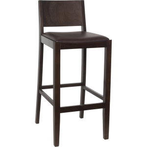 Wood Tapered Back Barstool