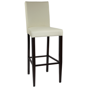 Wood Look Upholstered Tall Back Parsons Barstool