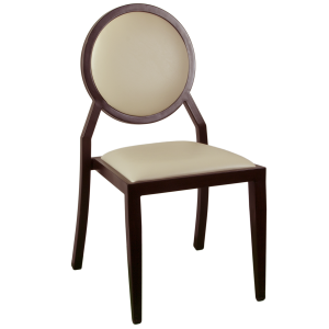 Wood-Look Stacking Round Back Chair